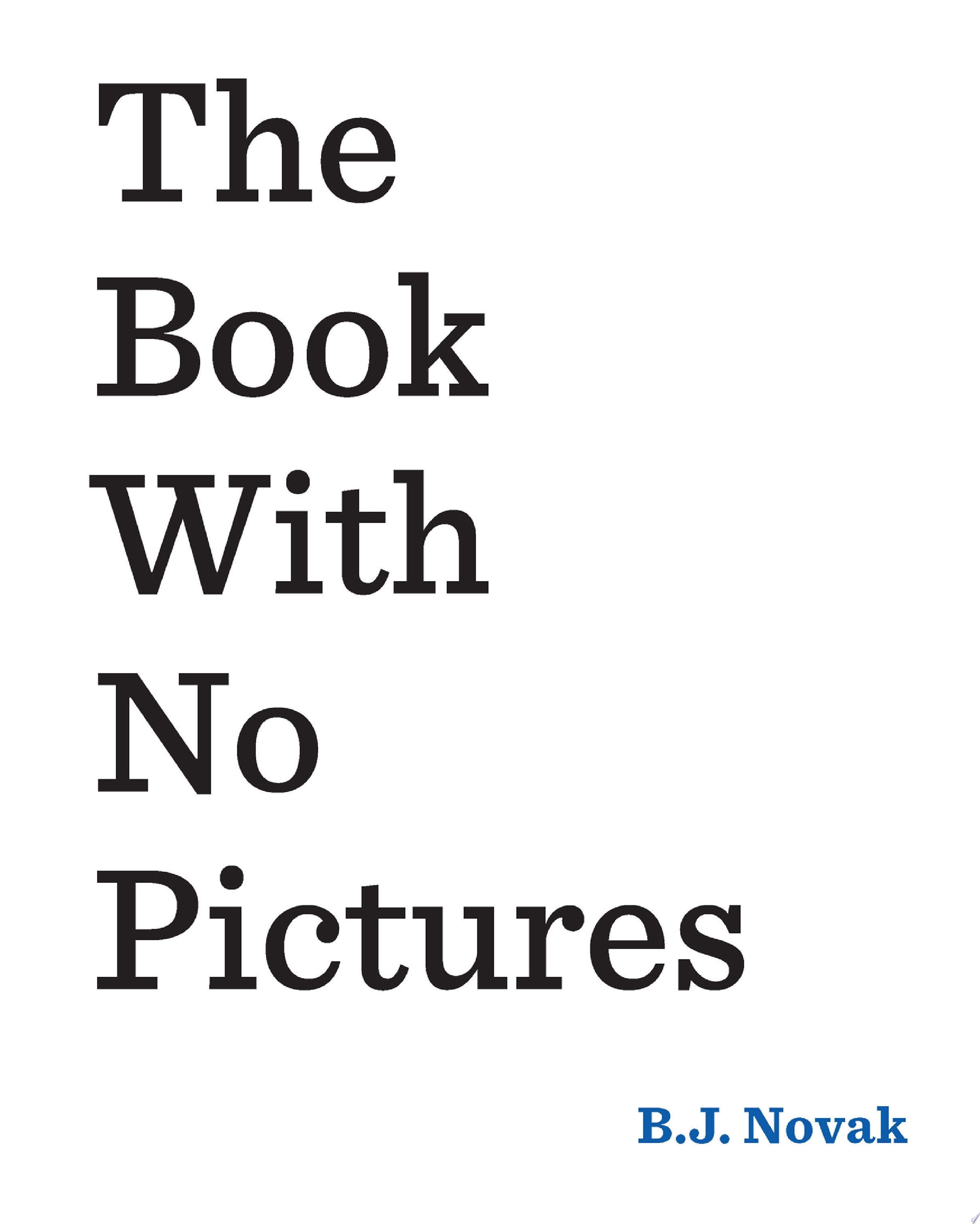 "Image for ""The Book with No Pictures"""