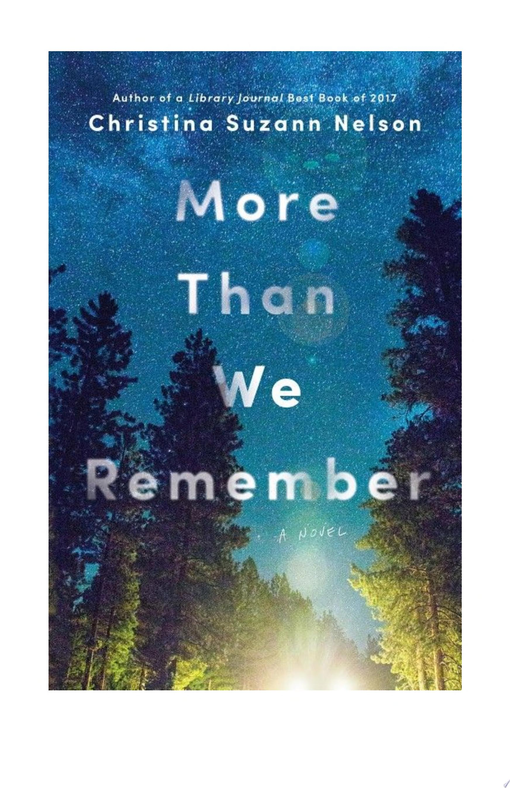 "Image for ""More Than We Remember"""