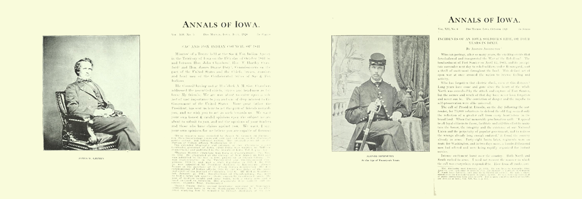 Pages from Iowa Annals