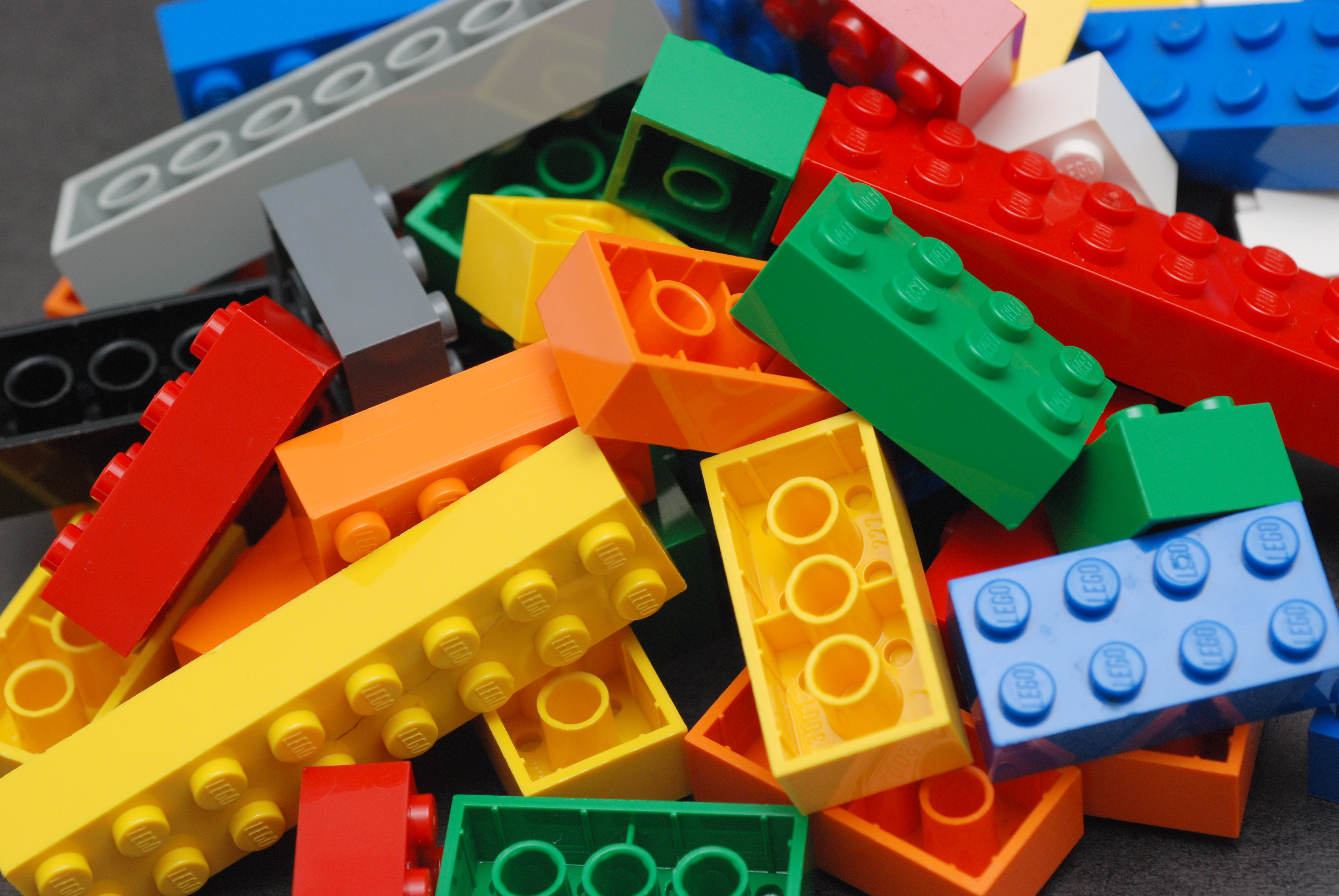 Photo of colorful LEGO bricks