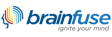 "Brainfuse logo ""ignite your mind"""