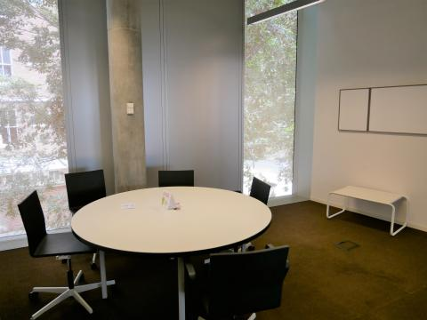 Central Study Room 3 with round table and whiteboard
